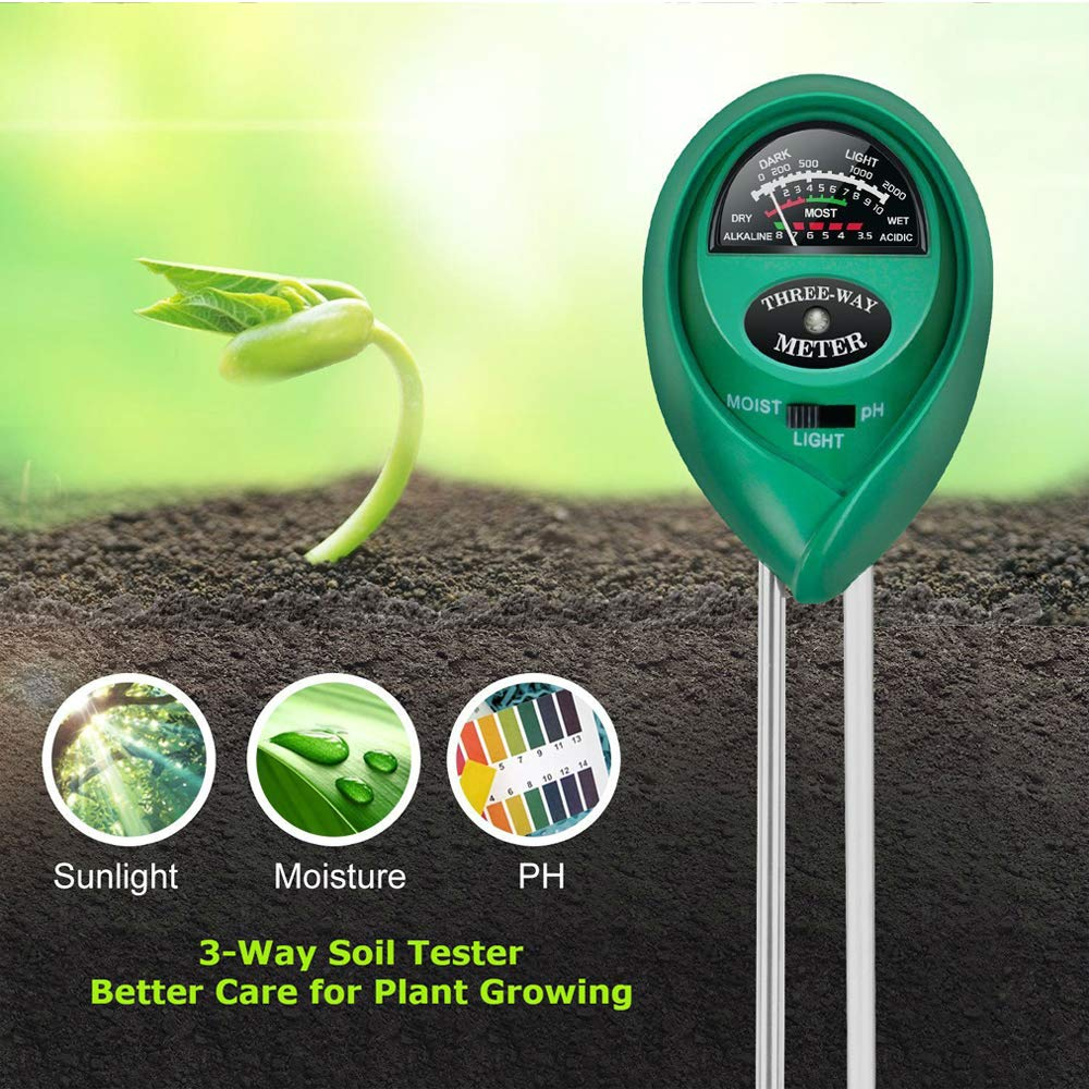 3 in 1 soil tester for balcony gardening
